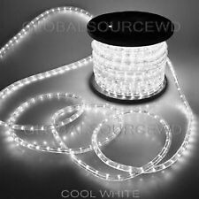 "150' FEET LED Rope Lights COOL WHITE COLOR 1/2"" /13MM 1656 LEDs With Accessories"