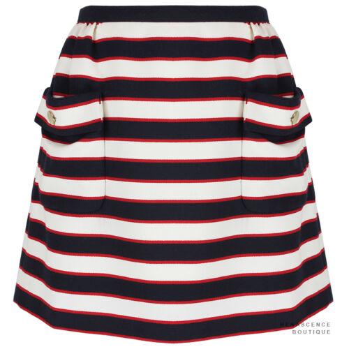 Ivory Stripe Blue Nautical Red Navy A Uk12 Valentino Mini White It44 Skirt line n1Y4qxtfw