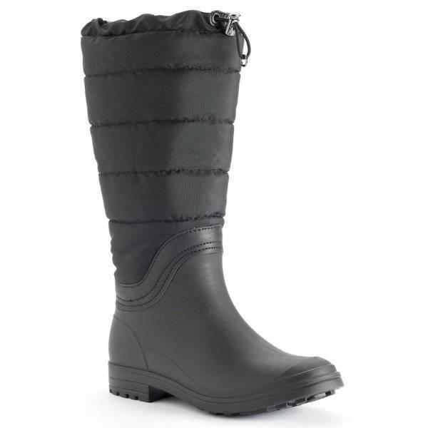 NWT  90-Womens Kamik Kamik Kamik Leeds Black Waterproof Mid Calf Rain Boots-size 9 10b95c