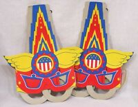 Vintage Lot Two Paper Captain America Masks Coronet Mdse Corp. Ny Japan