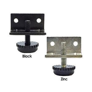 KPT-Black-or-Zinc-Adjustable-Level-Furniture-Base-Leveling-Glide-Feet-w-Bracket