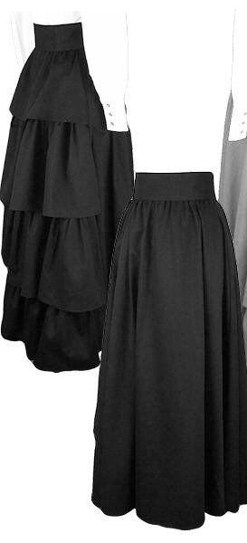 Women's Frontier Classics black cotton twill bustle frontier skirt sz S-XXL