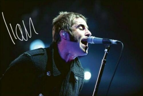 Liam Gallagher Oasis Music Singer Signed Autograph PRINT 6x4 Gift