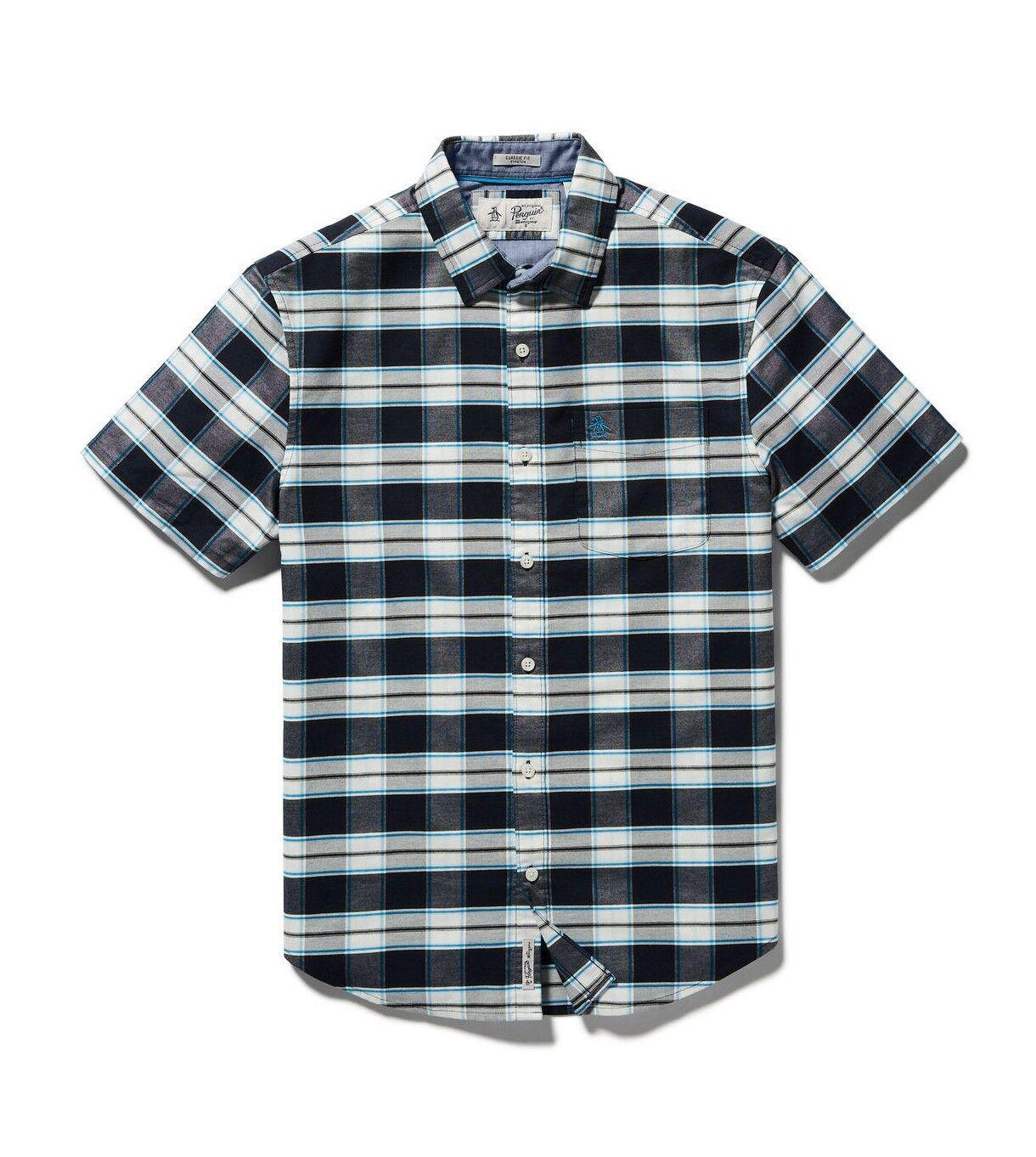 Original Penguin Plaid Oxford Shirt With Stretch- Classic Fit