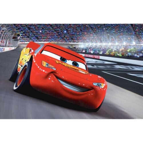 Cartoon Movie Film Fabric Print 12x18 24x36 inch Lightning McQueen 005 Cars