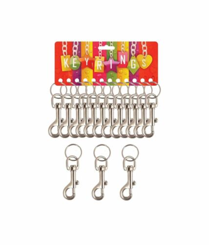 3x STRONG METAL HIPSTER KEYRING BELT CLIP KEY RING KEY CHAIN GREAT QUALITY