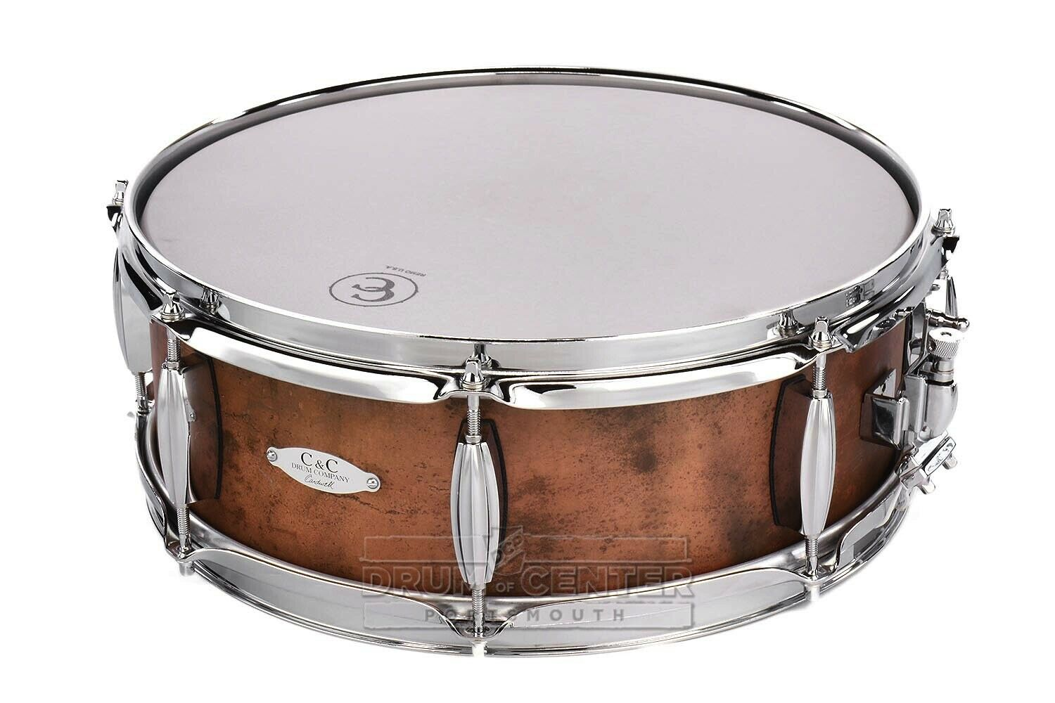 C&C Aged Copper Over Steel Snare Drum 14x5 8-Lug