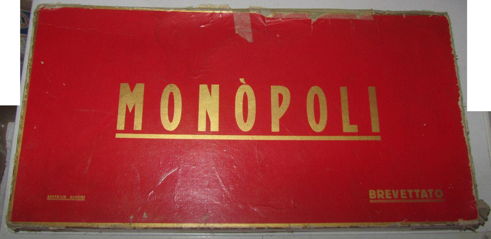 Ultimo 2018 Monopoli Rettangolare Rosso Brevettato Completo vintage vintage vintage SPESE GRATIS  con il 100% di qualità e il 100% di servizio