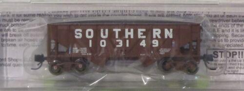 BluFord Shops N Scale 64041 Southern 2 Bay Rebuilt War Emergency Hopper Car