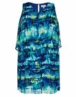 Autograph overlay Blue green Lined dinner party DRESS size 26 NEW