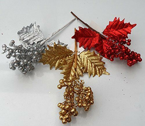 Cakes and Crafts Centrepieces Wreaths Glitter Pick for Christmas Decorations
