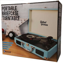 Briefcase Record Player Suitcase Vinyl 3 Speed Turntable Bluetooth Speakers