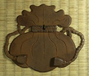 Decorative-Iron-Plate-Japanese-Tansu-Antique