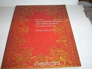 Auction-Catalog-Christie-039-s-Printed-Books-amp-Manuscripts-Tuesday-14-June-2005