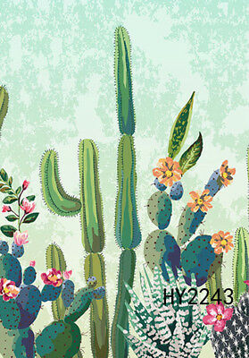 Summer Cactus With Flowers 12 5x18 Small Garden Flags House Yard