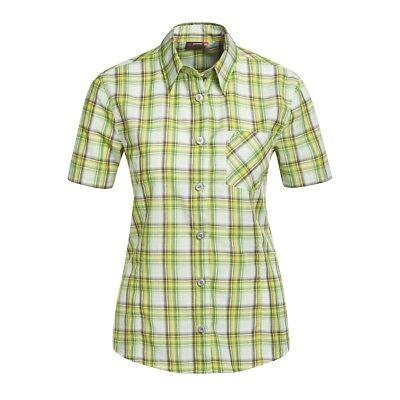Maier Sport Donna 1/2 Braccio Camicia A Quadri Verde-mostra Il Titolo Originale Acquista Sempre Bene