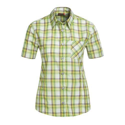 Maier Sports señora 1//2 brazo blusa verde a cuadros