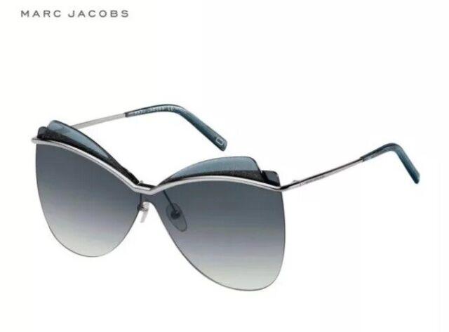 ❤️ MARC JACOBS Women's Ruthenium Grey Gradient Butterfly SunGlasses 103/S 6LB90
