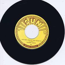 WARREN SMITH - I'VE GOT LOVE IF YOU WANT IT (Legendary SUN label ROCKABILLY BOP)