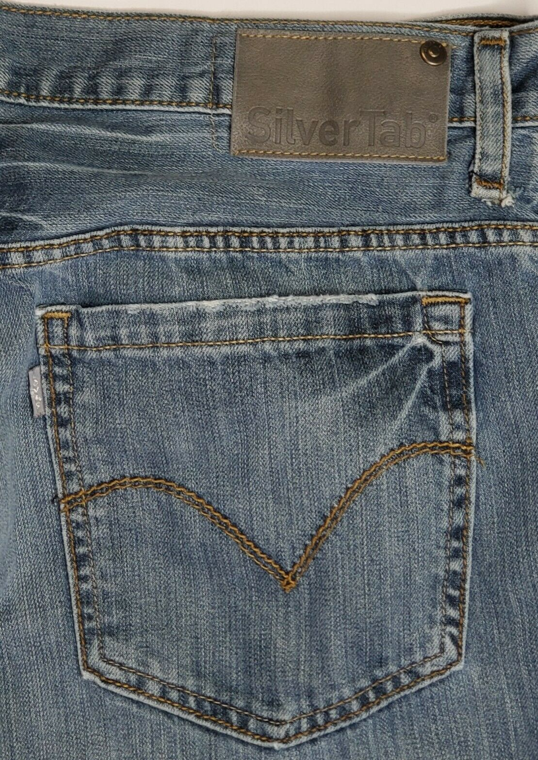 Vintage Levis Silvertab Baggy Straight Jeans 36x3… - image 7
