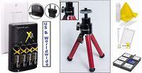 8pc Super Saving Accessory Kit For Olympus Sp-610uz Sp-620uz