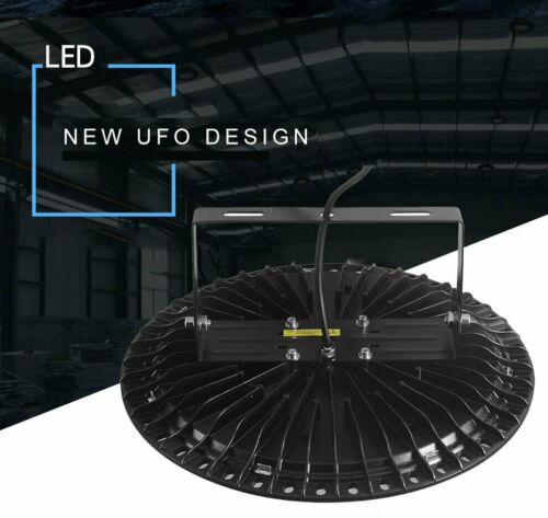 Super Bright Warehouse LED 200W UFO High Bay Lights Factory Shop GYM Light Lamp