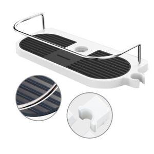Bathroom Shower Shelf Storage Plastic Holder Shampoo Bath Towel Single Tier Braw
