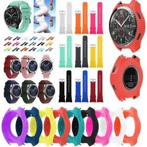 Luxus-Silikon-Buegel-Uhrenarmband-Kasten-Abdeckung-fuer-Samsung-Gear-S3-Frontier-H