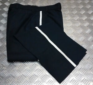 Genuine-Ceremonial-Bandsman-Dress-Trousers-Silver-Braided-Stripe-All-Sizes