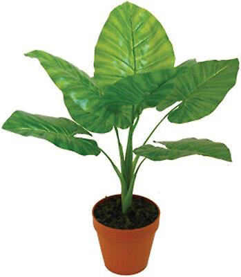 pianta artificiale taro mod A091KAL cm 65h decorazione casa piante finte
