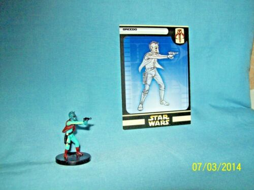 WotC Star Wars Miniatures Greedo, Rebel Storm 55/60,Fringe, Rare
