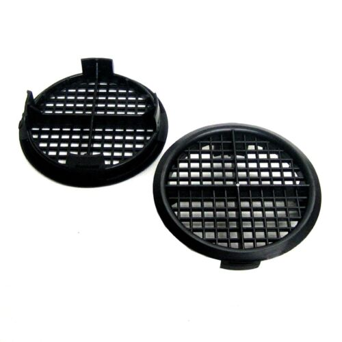 8 x Black Plastic 70mm Round Soffit Air Vents Upvc Push Fit Eaves Disc Fascia