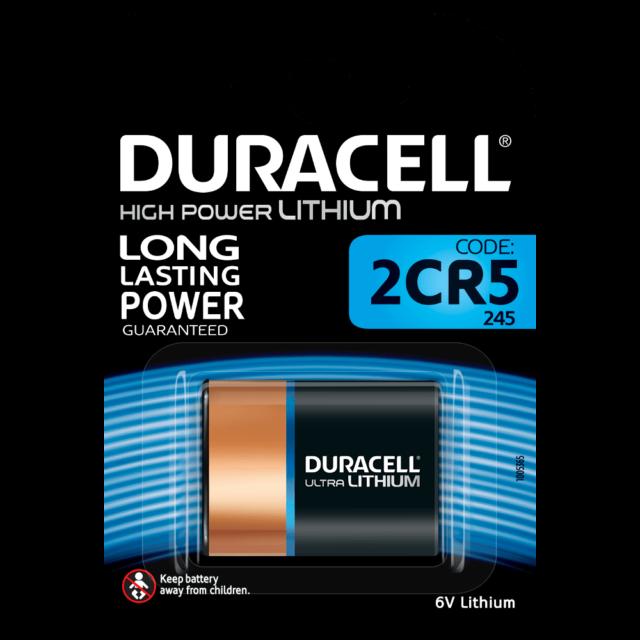 1x Duracell 245 High Power Lithium Photo-Batterie 2CR5 - 2 CR 5  6V  1er Blister