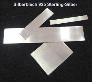 Silberblech-925-echt-Sterlingsilber-verschiedene-Staerke-Laenge-amp-Bereite-A508