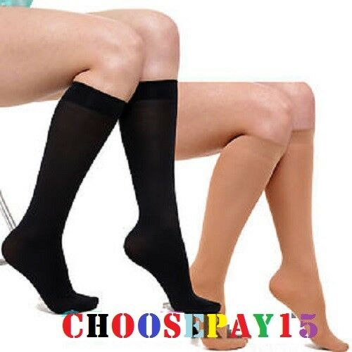 12 Pairs Ladies Knee High Pop Socks Trouser Tights 80 Denier Adults Black Or Tan