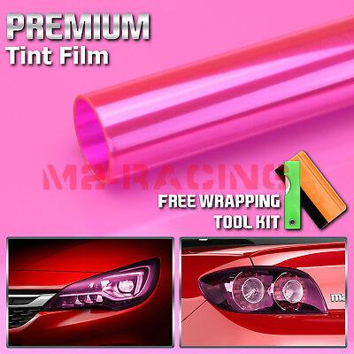 """*12/""""x24/"""" Neon Yellow Protective Tint Headlight Taillight Fog Lights Vinyl Film"""