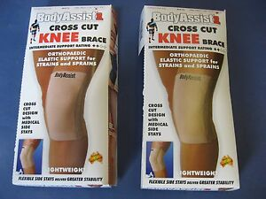 Body-Assist-2-Pack-Cross-Cut-Knee-Brace-Extra-Large-41S-XL-Made-in-Australia-XLG