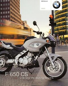 2004 Bmw F650cs Motorcycle Brochure Bmw F 650 Cs Ebay