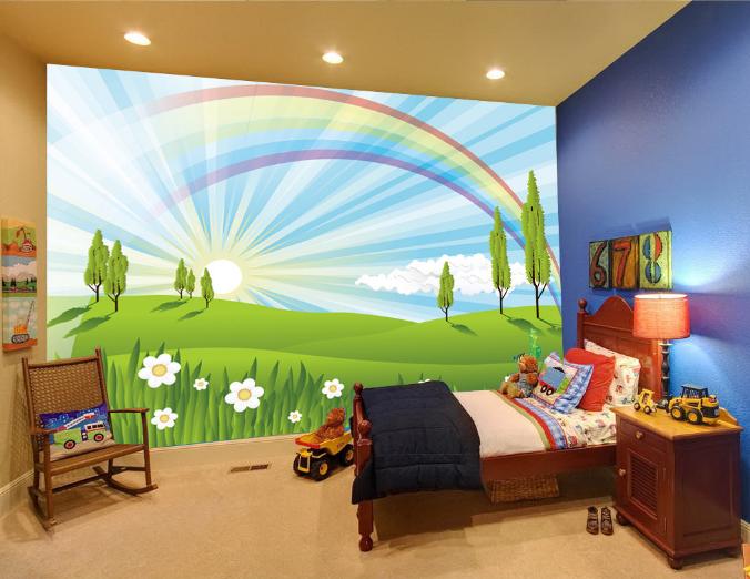 3D Regenbogenrasen 56 Tapete Tapeten Mauer Foto Familie Tapete Wandgemälde DE