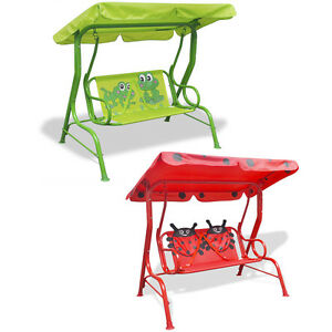 kinder hollywoodschaukel kinderschaukel gartenschaukel gartenbank froggy k fer ebay. Black Bedroom Furniture Sets. Home Design Ideas
