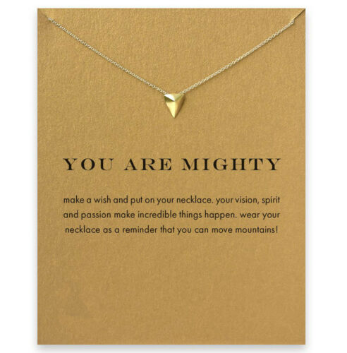 you are mighty triangle clavicle necklace With Card lucky jewelry