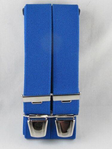 blau eigene Herstellung Herrenhosenträger 120-140 cm Breite 35 mm in royal