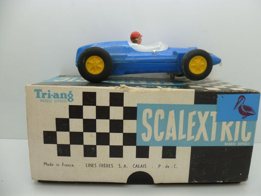 Scalextric C58 cooper dans dans dans bleu clair version française, french box aussi, mint voiture 4719a0