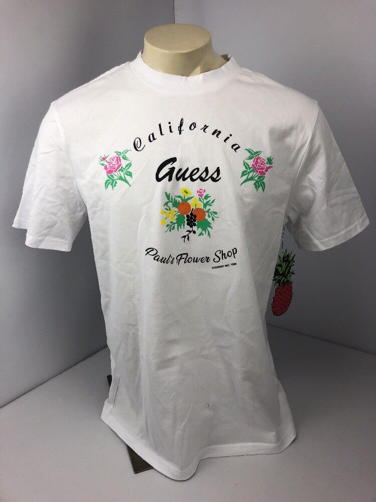 Guess Jeans x Sean Wotherspoon Farmers Market Paul's Flower Shop T-Shirt M NWT