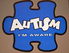 Autism Awareness LIGHT IT UP BLUE Reflective Sticker REFLECTOR I'm Aware!