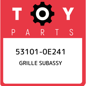 53101-0E241-Toyota-Grille-subassy-531010E241-New-Genuine-OEM-Part