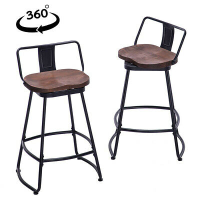 Set Of 2 Swivel Bar Stools 24 26 30 Inch Counter Height