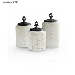 white canisters for kitchen ceramic canister set white kitchen canisters storage flour 22683