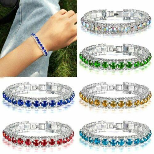 Exquisite CZ Crystal Rhinestone Zircon Bracelet Bangle Wedding Bridal Wristband