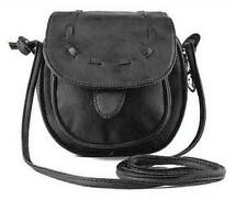 Black Women Mini Woven Crossbody  Leather Shoulder Tote Satchel messenger Bags